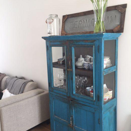 cabinet L blue 4 doors I
